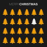 goldene Tannenbäume - Merry Christmas