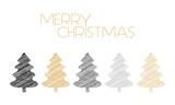 Tannenbäume Weihnachtskarte Strichzeichnung
