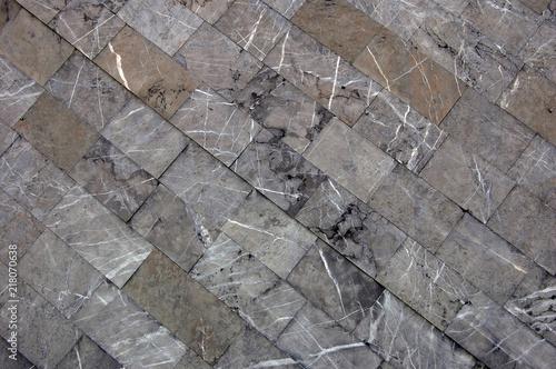 In de dag Stenen diagonal texture of rectangular marble blocks