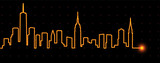 New York Light Streak Skyline