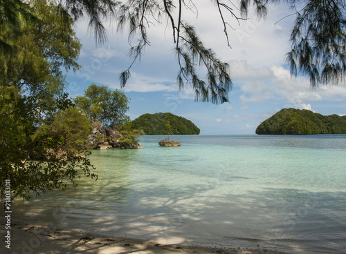 Plexiglas Tropical strand Islands of Palau