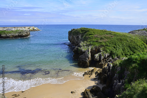 Canvas Blauwe hemel Paisaje de Asturias
