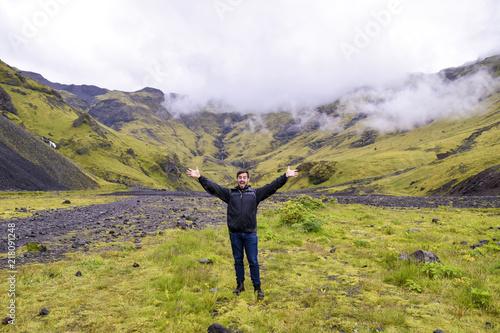Foto Murales Happy man on vacation