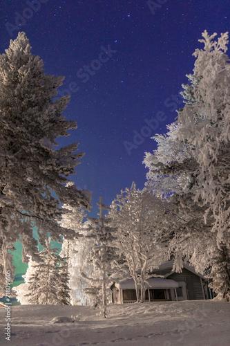 Canvas Noorderlicht Polarlichter in Schweden