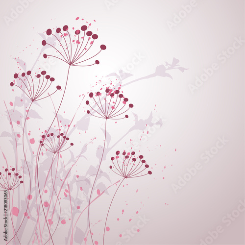 Wall mural Romantic Flower Background