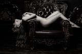 nude girl on armchair