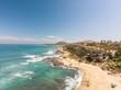 Vista panorámica aérea de la playa de Acapulquito en San José del Cabo, México