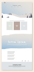 Colorful abstract website template background with pastel colored meadow. © pokki