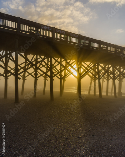 Wall mural Sunrise at the pier