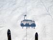 Leinwanddruck Bild - Skifahren in Saalbach Hinterglemm Leogang