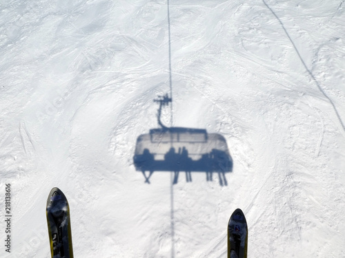 Leinwanddruck Bild Skifahren in Saalbach Hinterglemm Leogang