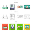 Transport, public, train and other web icon in cartoon,outline,flat style.Equipment, attributes, mechanism icons in set collection.