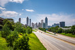 The Atlanta Skyline from the Jackson Street Bridge