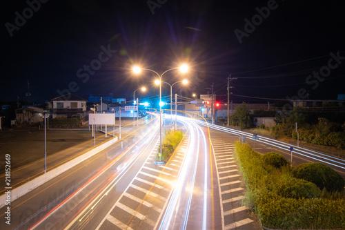 In de dag Nacht snelweg 道路 長時間露光
