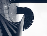 Staircase step Building Exterior Fire spiral Architecture Abstract