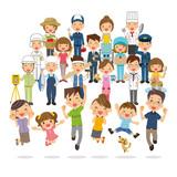 家族と地域の人々 - 218161832