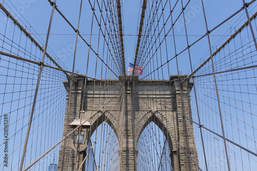 In de dag Brooklyn Bridge Brooklyn Bridge in New York City