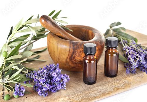 Foto Murales lavender and essential oils