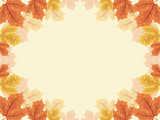 Floral Maple Leaf Greeting Card Template Background Border