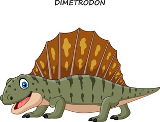 Cartoon funny dimetrodon