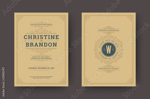 wedding save the date invitation cards flourishes ornaments buy