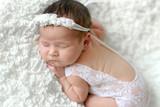 sleeping newborn baby girl - 218183448