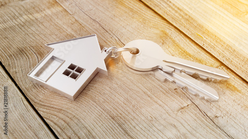 Leinwanddruck Bild Haus und Schlüssel Konzept für Hauskauf