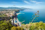 Coastline Sorrento and Gulf of Naples - popular tourist destination in Italy