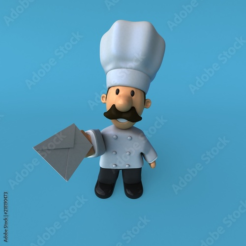Sticker Fun chef - 3D Illustration