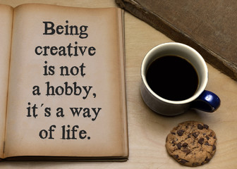 Being creative is not a hobby, it is a way of life. © magele-picture