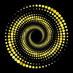Золотой полутоновый фон. Оригинальная необычная абстрактная векторная иллюстрация.