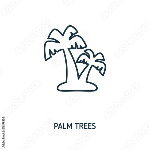 Palm Trees Creative Icon Simple Element Illustration Palm Trees