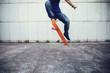 one skateboarder skateboarding on city