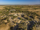 Aerial shot from Archaeological Site of Troy Canakkale Turkey - 218210811