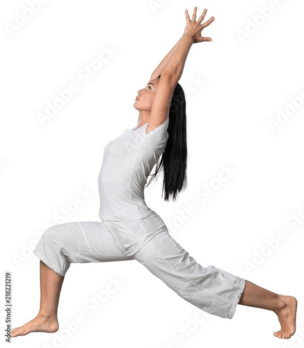 Plakat Portrait of a Woman Doing Yoga Exercise
