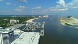 Aerial drone footage of Biloxi Mississippi USA 4k 24p - 218240283