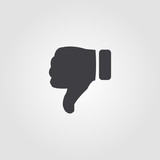 Thumb Down icon. Simple element illustration. Thumb Down pixel perfect icon design from ui collection. Using for web design, apps, software, print. - 218240412