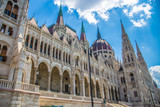View of Budapest parliament, Hungary - 218240448