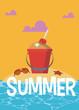Summer and vacations cartoons
