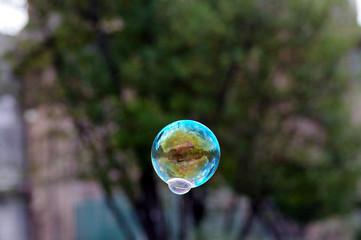 bulles de savon, art de rue