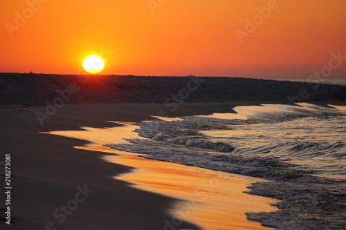Canvas Zee zonsondergang morze bałtyk sea baltic poland jurata hel