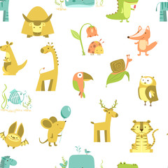 seamless pattern of animals