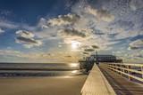 Sankt Peter Ording Strand Sonnenuntergang - 218311023