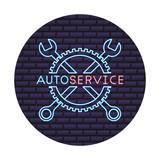 car repair tool crossed wrench auto service