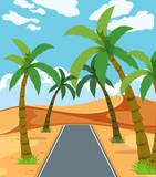 A beautiful desert road - 218316071