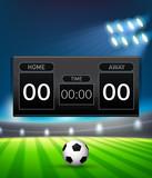 A football scoreboard template - 218317060