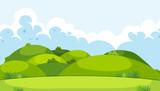 A beautiful green mountain landscape - 218317294