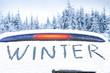 Leinwanddruck Bild - Winter car and snow