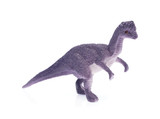 toy small dinosaur isolated on white background