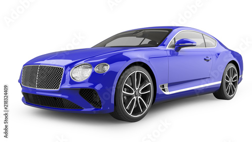 Luxury Sports Car Isolated on White - 218324409